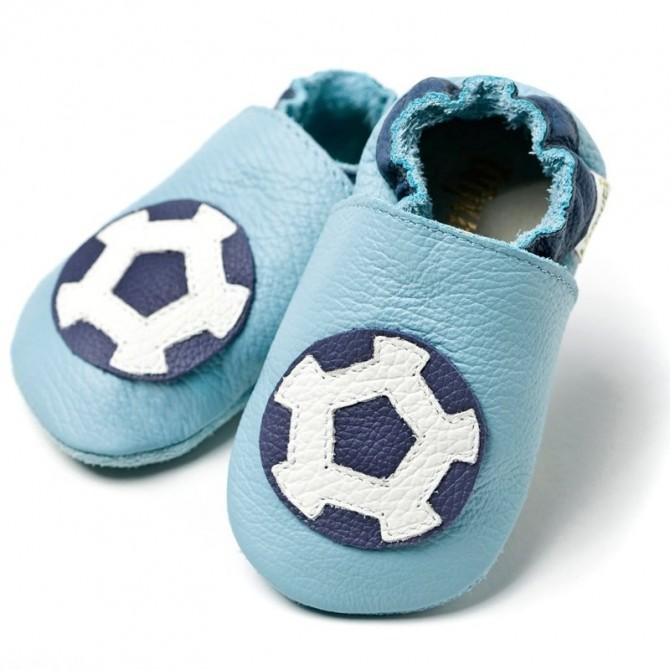 Patucos bebé de piel - Soccer