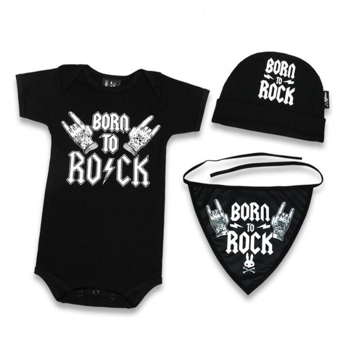 Caja regalo para bebe - born to rock