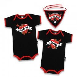 Regalo bebe rockero - mum and dad