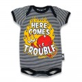 Baby onesie - here comes trouble
