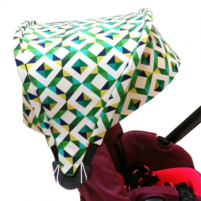 Capota Jan Muum - geo pop emerald