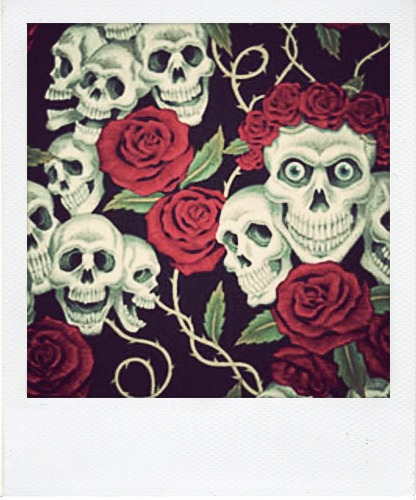 Calaveras y rosas - Imagui