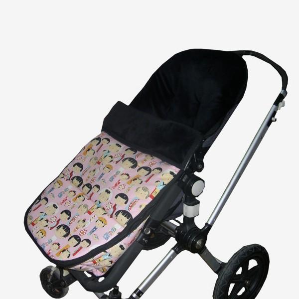 Saco Bugaboo Camaleon estampado infantil rosa