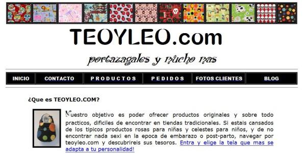 Antigua web de www.teoyleo.com (www.mochila-portabebe.com)