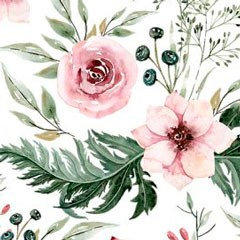 Tela 632 caritas osos rosa