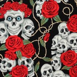 Tela 066 Rose tattoo fondo negro