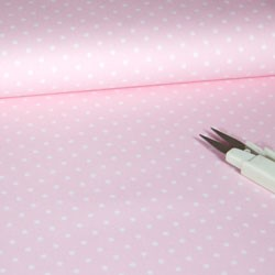 Tela 264 pique topos rosa