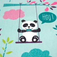 Tela 547 osos panda verde