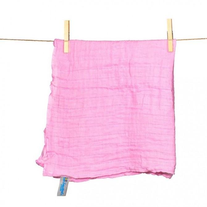 Pack de muselinas y pañitos algodón rosa