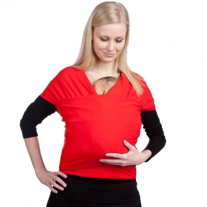 Pañuelo portabebe elastico rojo