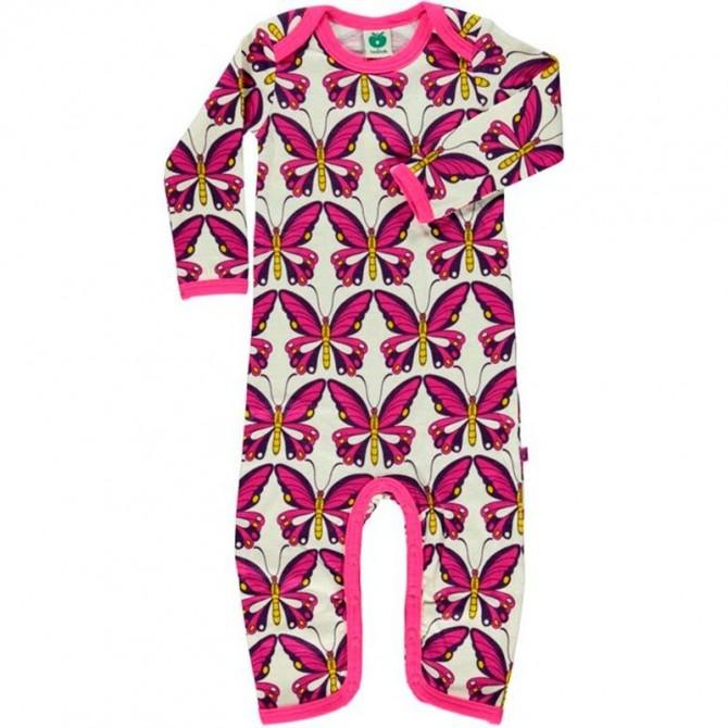 Body suit wool Butterflies