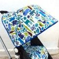 Canopy 2d Zoo blue for Bugaboo Frog
