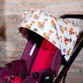 Capote pour Jane Mumm poussette Des renards sur gris