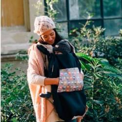 Couverture pour bébé et portage Des Hiboux sur gris de Mybags