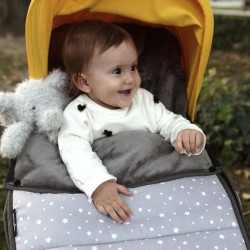 Winter footmuff for bugaboo Stars grey