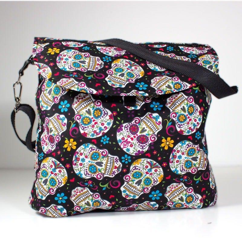 Messenger Diaper Bag Folk Skull Bolso Para El Carrito Del Bebe