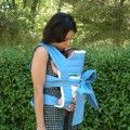 Custom your light blue Mei tai baby carrier