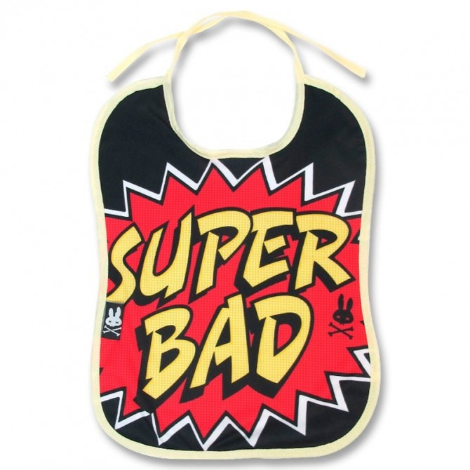 "Babero bebé ""super bad"""
