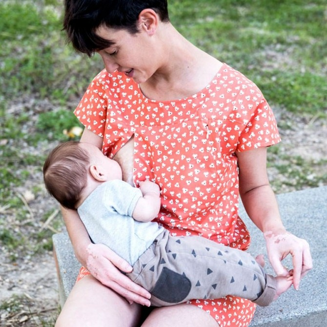 Vestido de lactancia Indri Coral bebé