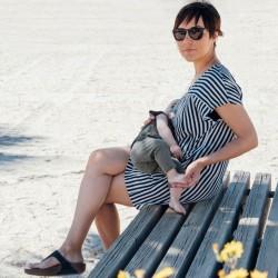 Vestido Lactancia Indri Rayas gafas sol