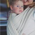 Baby woven wrap Herringbone beige