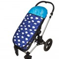 Universal footmuff for stroller - clouds