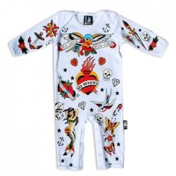 Pijama bebé - old school white