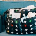 Baby Messenger diaper bag Stars on black By Mybags
