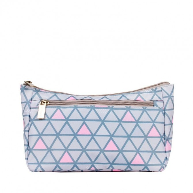 Baby vanity bag Trendy Piramids grey