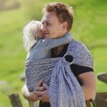 Baby ring sling Grey cube by littlefrog