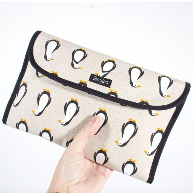 Bolsa para pañales - pingüinos