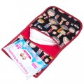 Diaper and wipes pouch - black kokeshi