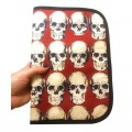 Baby documents pouch - rad skull