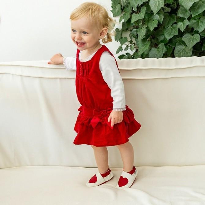 Patucos bebé de piel - Lovecon niña