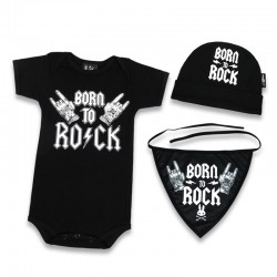 Caja regalo para bebe - born to rock