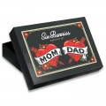 Caja regalo bebe rockero - mum and dad