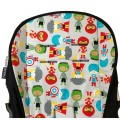 Cotton seat linner for Bugaboo Donkey - super hero