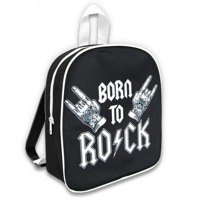 Mochila guarderia - bork to rock