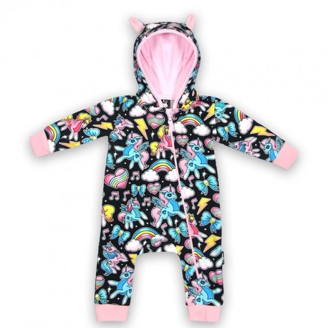 Pijama bebe con orejitas - unicornios