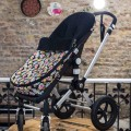 Universal footmuff for stroller - mini skulls