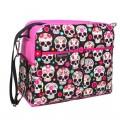 Bolso carro bebe - paisley skulls love