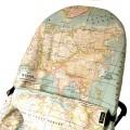 Housse pour le transat bébé babybjorn - carte du monde