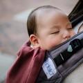 Mochila ergonómica baby Fidella Fusion Roja bebé