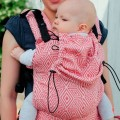 Ergonomic Baby carrier - red cube