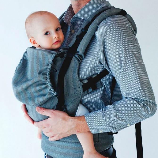 Porte-bébé physiologique - graphite herringbone