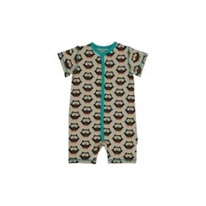 Baby Shortie romper Owls by Maxomorra