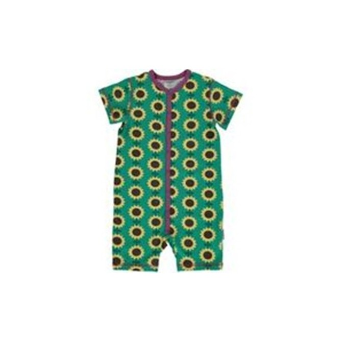 Baby Shortie romper Sunflowers by Maxomorra