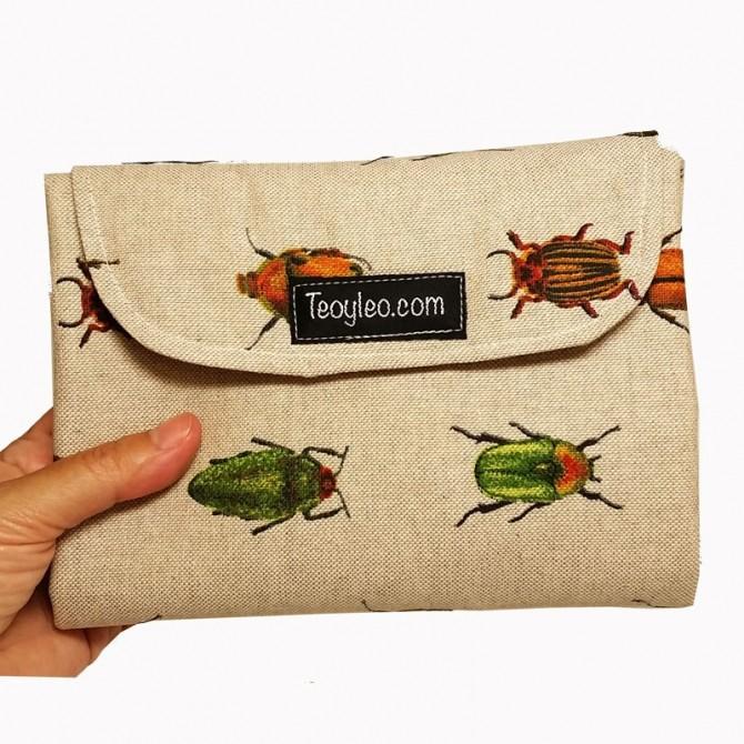 Baby changing mat - beetles
