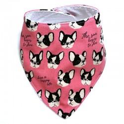 Bavoir bebe - pink dogs