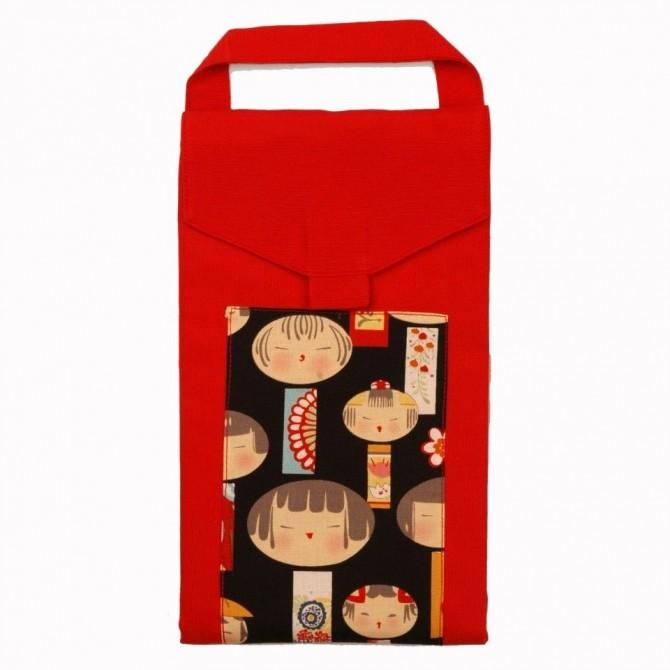 Bolsitos japoneses en rojo.